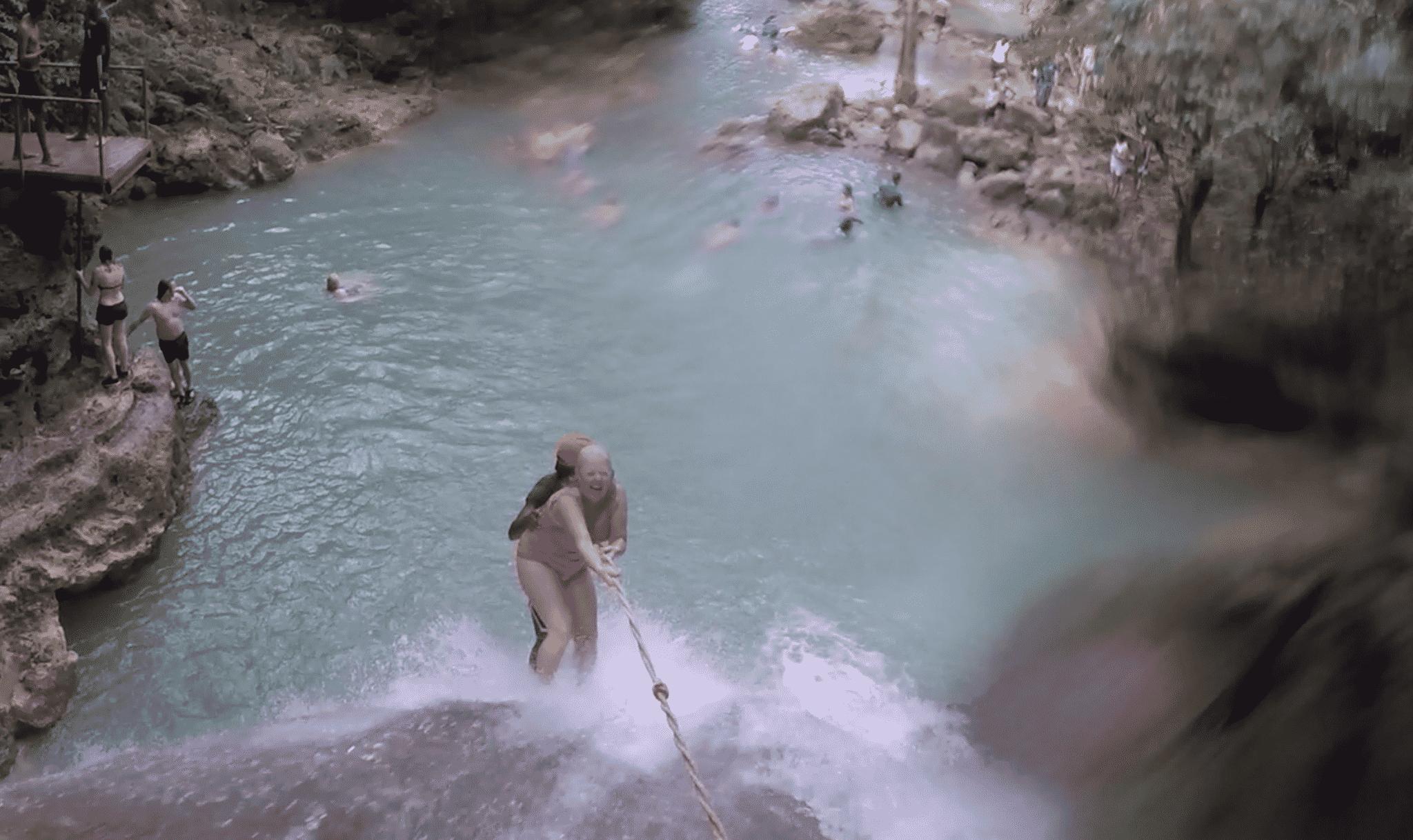 jamaica-irie-blue-hole-melanie-ceo-rare-finds-travel-waterfall-rappel