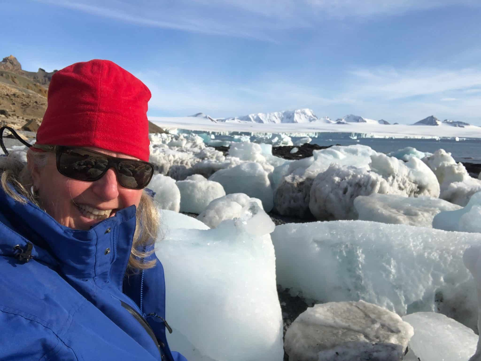 melanie_ceo_rare_finds_travel_with_ice_floes_on_antarctica_beach